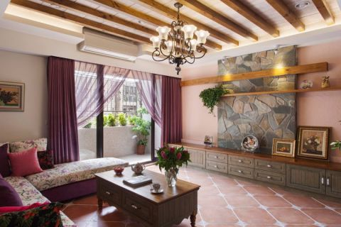 2020田园90平米装饰设计 2020田园二居室装修设计