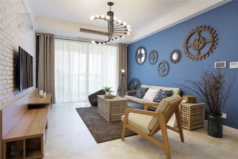 客厅吊顶北欧风格装修效果图