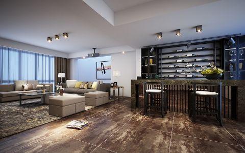 自然灰色客厅踢脚线设计图欣赏