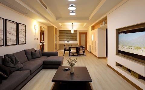 旺海公府两居室现代日式简约设计效果图