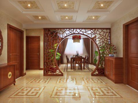 客厅隔断中式风格装潢效果图
