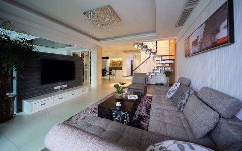 中环公寓现代风格160平三居室装修效果图