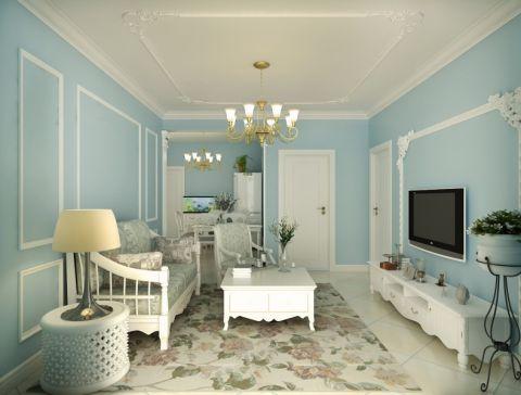 客厅吊顶地中海风格装潢效果图
