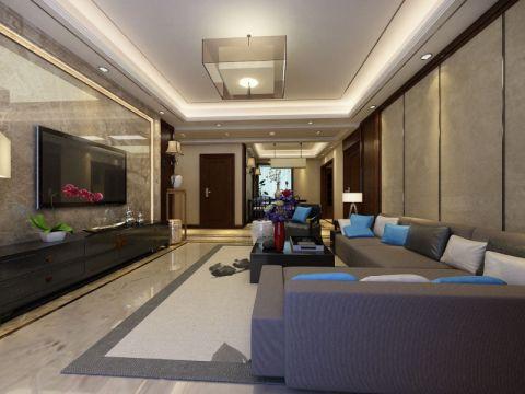 新中式150平米三居室装修效果图