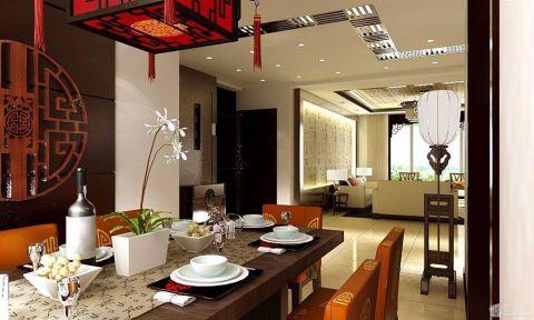 餐厅新中式风格装潢效果图