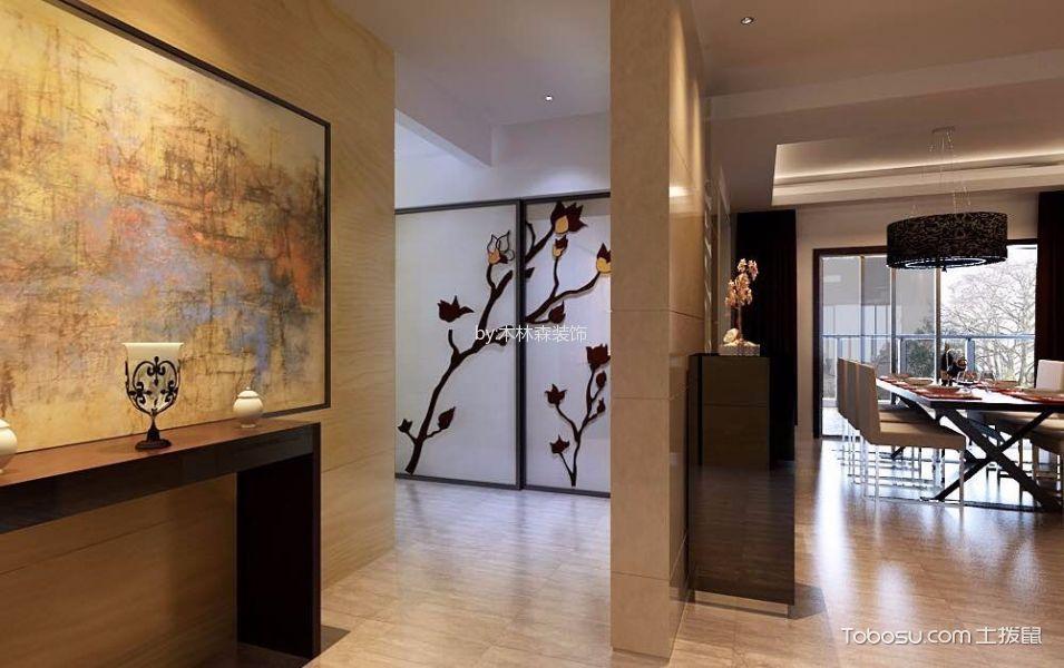 玄关橙色背景墙现代风格装修设计图片