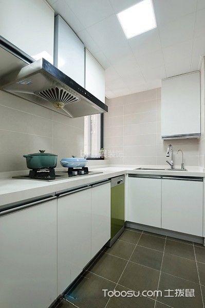 厨房白色隔断北欧风格装潢效果图