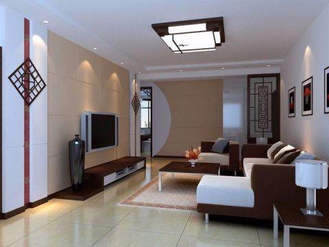 干净客厅踢脚线新中式装修