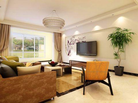 石炼小区三居室简约风格装修效果图