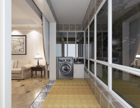 恒新公馆130平米美式风格.经典三居室效果图