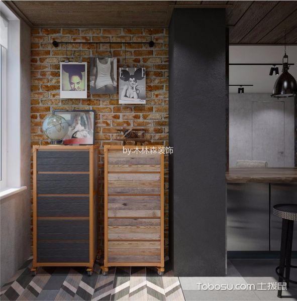 阳台彩色地板砖美式风格装潢设计图片