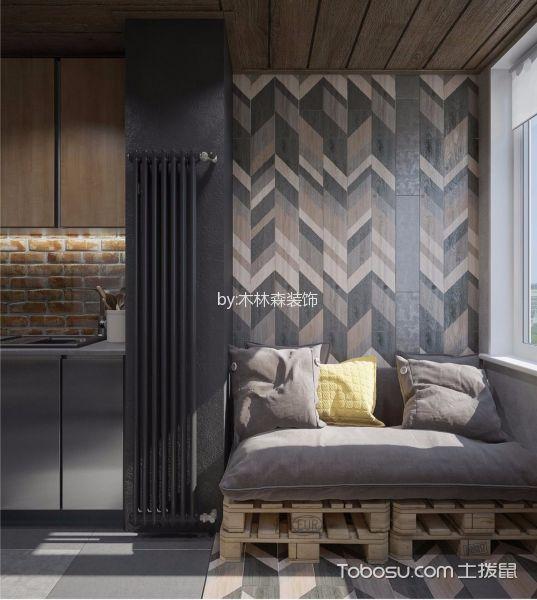 阳台灰色沙发美式风格装修效果图