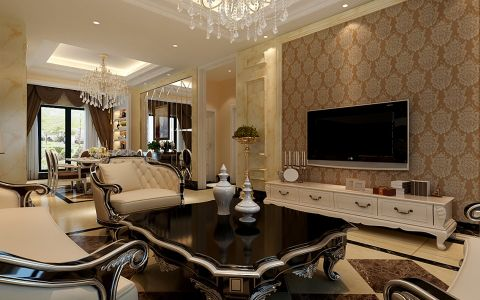 2020新古典150平米效果图 2020新古典四居室装修图