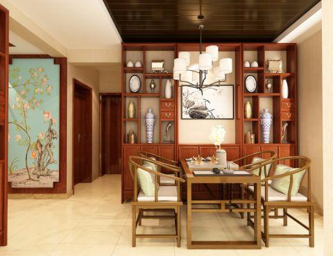 2020中式90平米效果图 2020中式二居室装修设计
