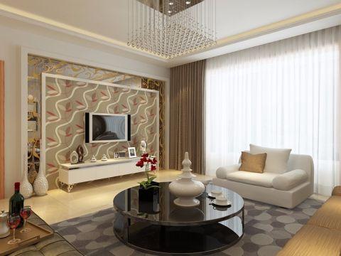 富佳苑138平米现代简约风格装修设计效果图