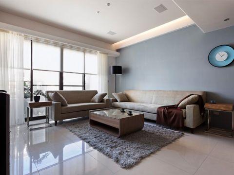 麒麟山莊三居室現代簡約裝修效果圖