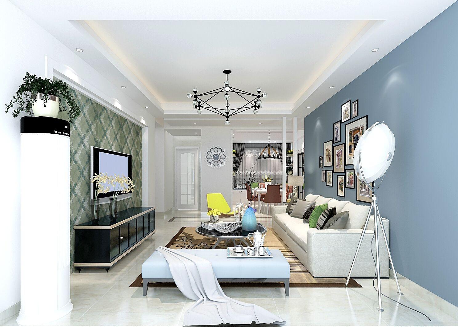 3室1卫2厅116平米现代简约风格