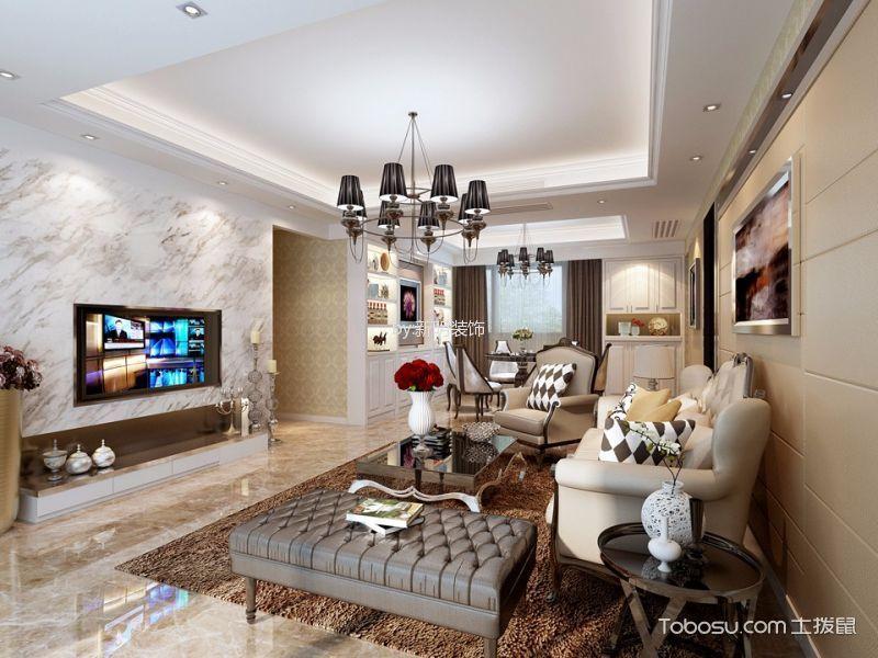 大智嘉园128平半包三居室新古典装修设计图