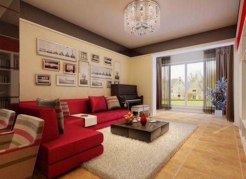 滨河家园90平米现代繁复婚房