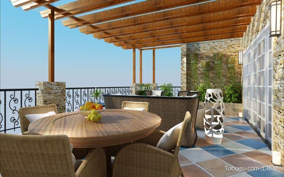 阳台彩色地砖现代风格装饰图片