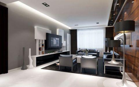 金地艺境三居室现代冷色家装效果图
