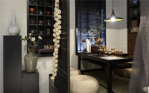 书房背景墙美式风格装饰设计图片