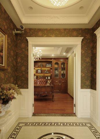 书房博古架法式风格装潢设计图片