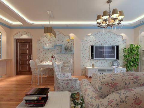 客厅吊顶田园风格装修设计图片