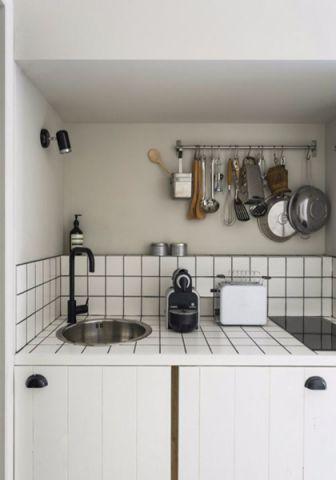 厨房背景墙中式风格装饰效果图