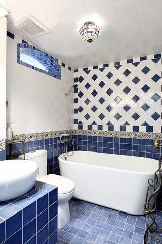 卫生间地中海风格装潢设计图片