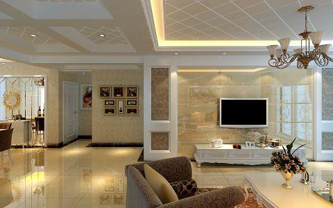 客厅门厅简欧风格装潢效果图