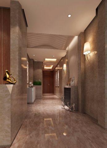 玄关背景墙新古典风格装潢图片