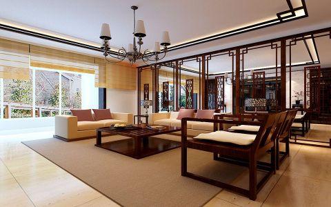 客厅隔断中式风格装饰图片