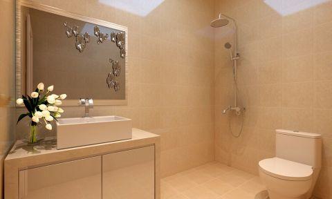 卫生间背景墙现代简约风格装饰效果图