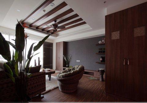 客厅吊顶东南亚风格装修图片