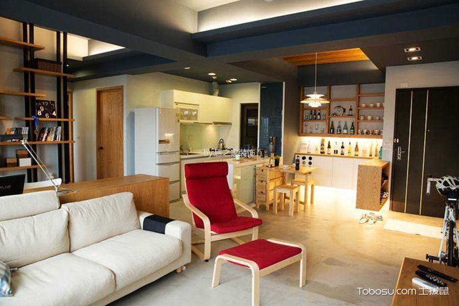 客厅灰色地砖现代风格装饰效果图