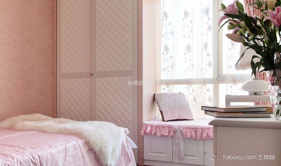 儿童房粉色榻榻米中式风格装潢设计图片