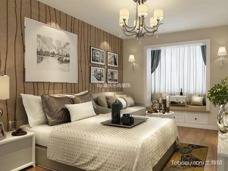 卧室白色飘窗现代风格效果图