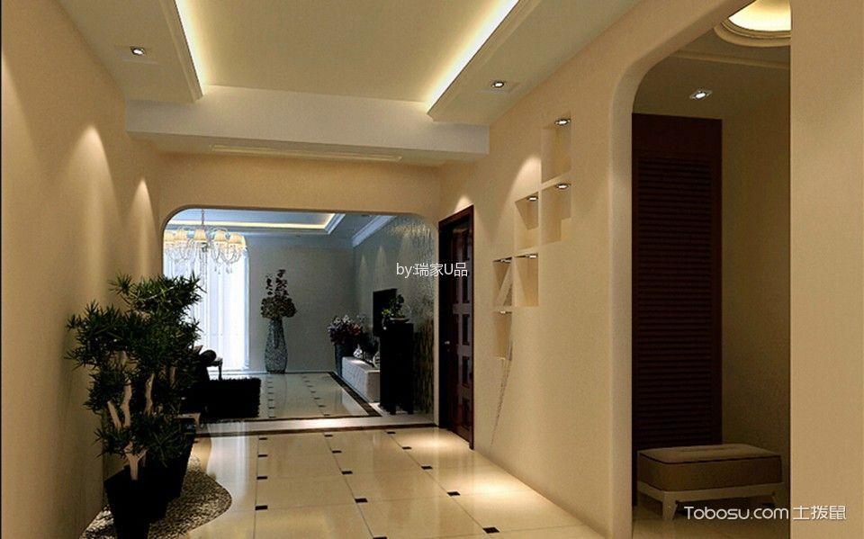 玄关橙色走廊现代风格装修设计图片