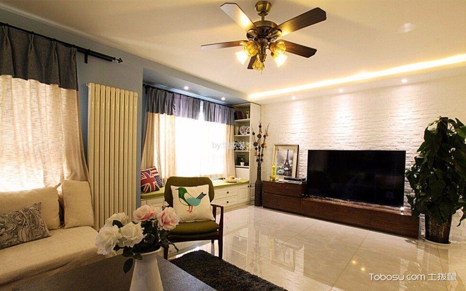 东瑞家园老房翻新80平现2居室代简约风格效果图
