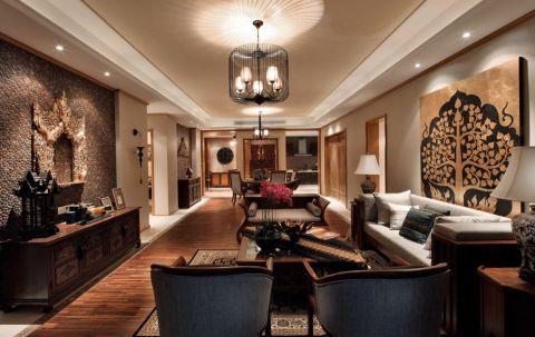 2021东南亚120平米装修效果图片 2021东南亚三居室装修设计图片
