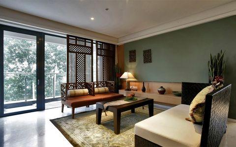 金象泰十里洋房东南亚风格装修案例效果图
