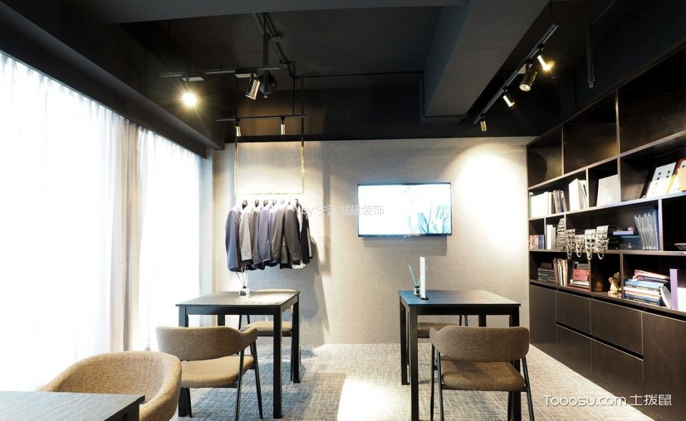 现代简约风格服装店休息区装潢设计图片