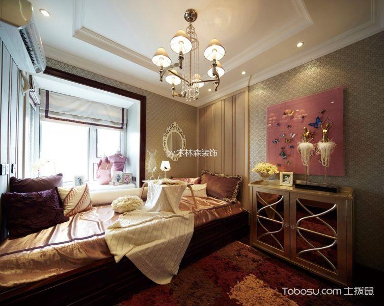 卧室红色榻榻米欧式风格装修设计图片