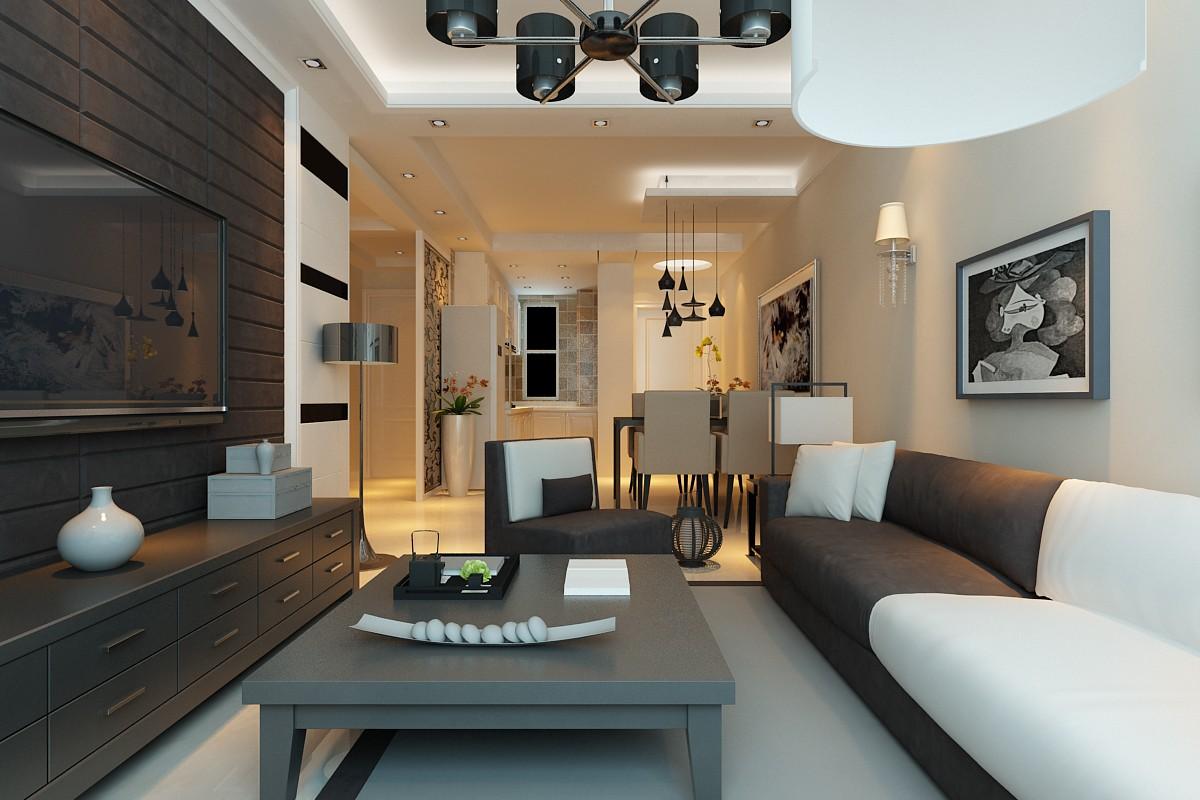 2室1衛1廳90平米現代簡約風格