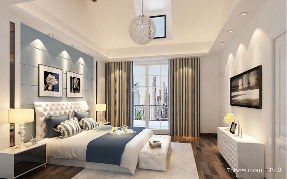 卧室白色电视柜新中式风格装修效果图