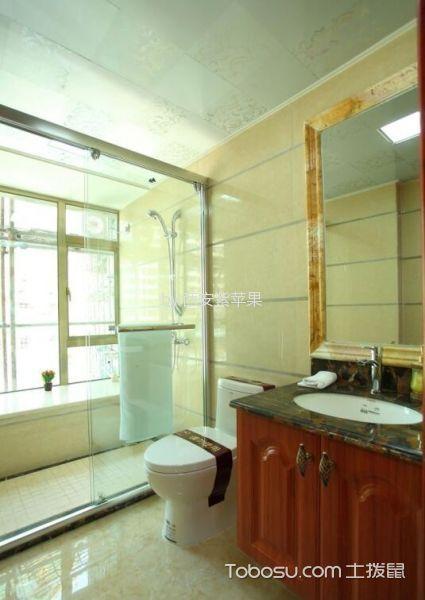 卫生间白色吊顶美式风格装修效果图