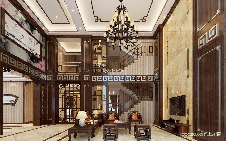 香江枫景4房2厅300平方中式风格效果图