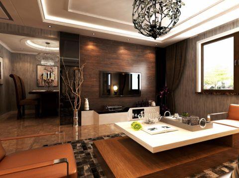 坤泽10里城-新中式风格-三居室效果图