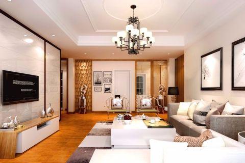 东沙公寓171平半包混搭风格四居室装修设计图